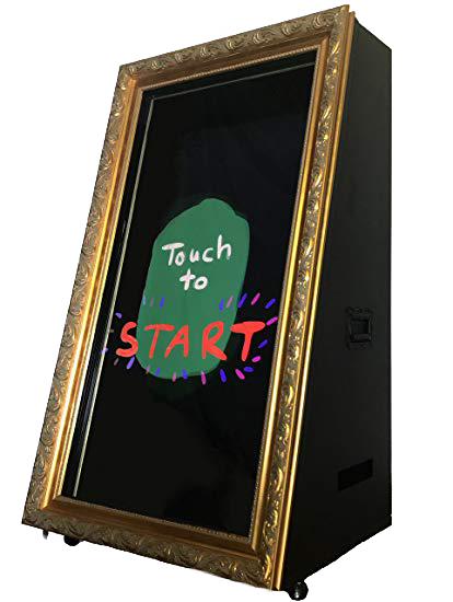 rent event latest wedding magic mirror me photo booth selfie