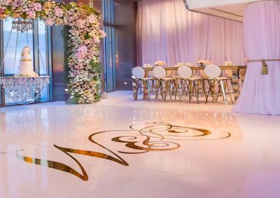 Beautiful Wedding Wrap Floor