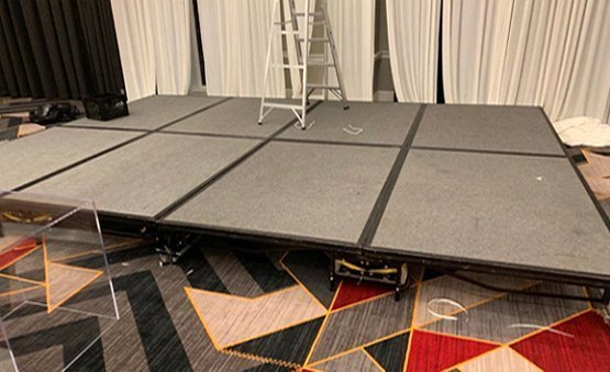 Portable Mobile Stage Riser Rental in DC MD VA