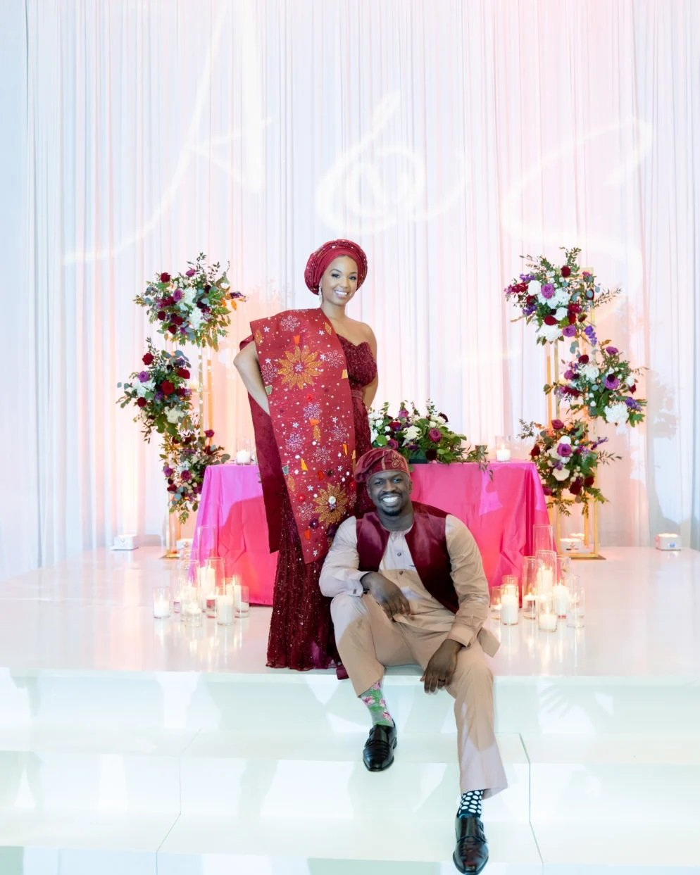 Ayana-Olusheun-A-Red-and-Gold-Wedding-at-the-Hotel-at-the-University-of-Maryland-Washingtonian-FM-Event-Productions-floor-Wrap